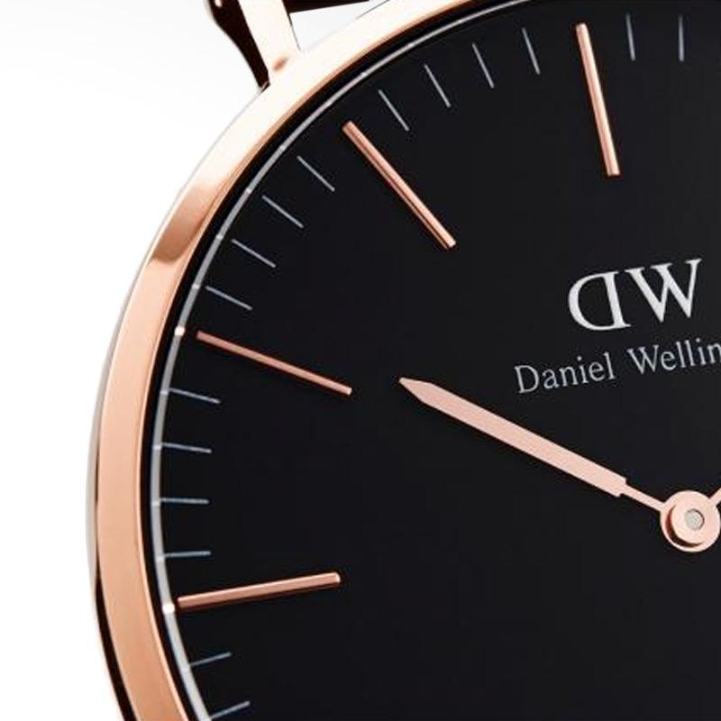 Daniel Wellington Classic Black Durham Strap Kulit Jam Tangan Pria - Rose Gold [40 mm]. Brand: Daniel Wellington