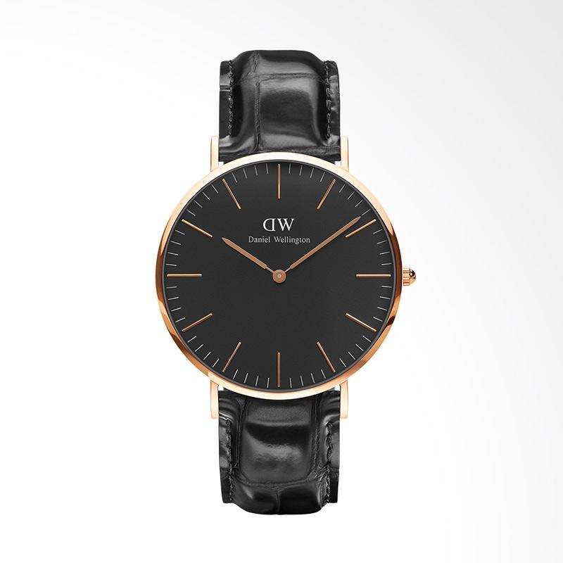 Daniel Wellington Classic Black Reading Jam Tangan Pria - Rose Gold [40mm]