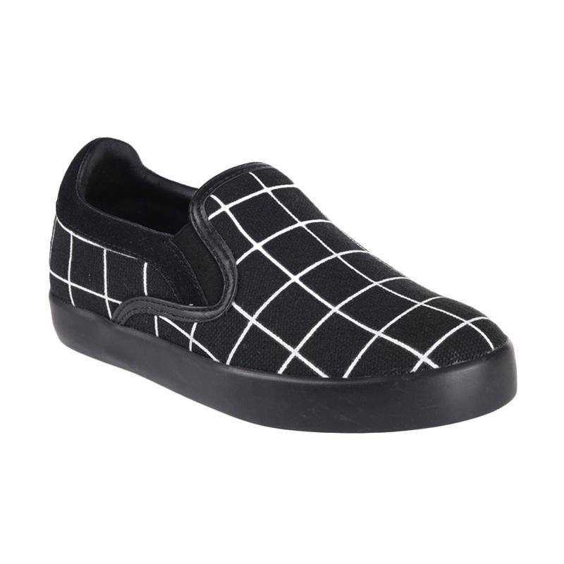 Aixaggio Marco Canvas Grid Sepatu Anak Perempuan - Black White