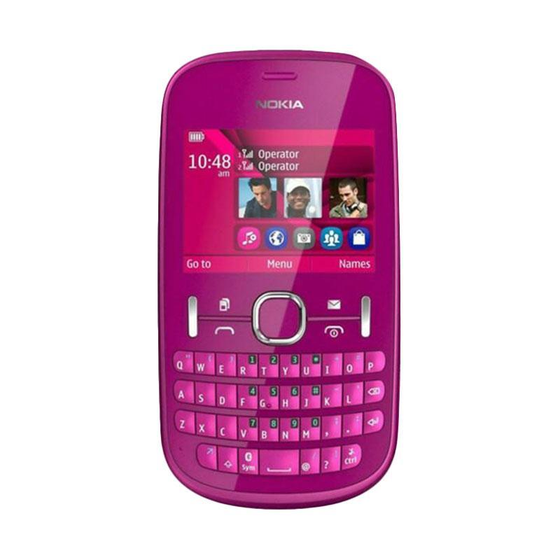harga Nokia Original Asha 200 Handphone - Pink [Dual Sim/ QWERTY] Blibli.com