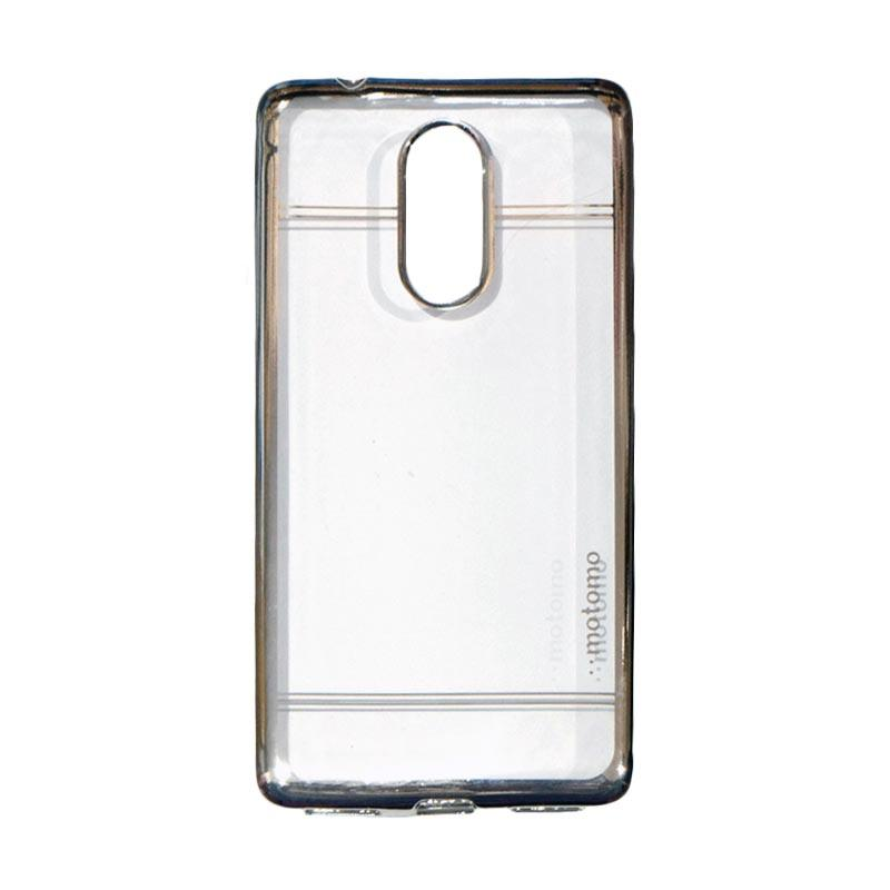 Motomo Softcase Luxury Shining Chrome Ultrathin Silicone Casing for Lenovo K6 Note - Silver