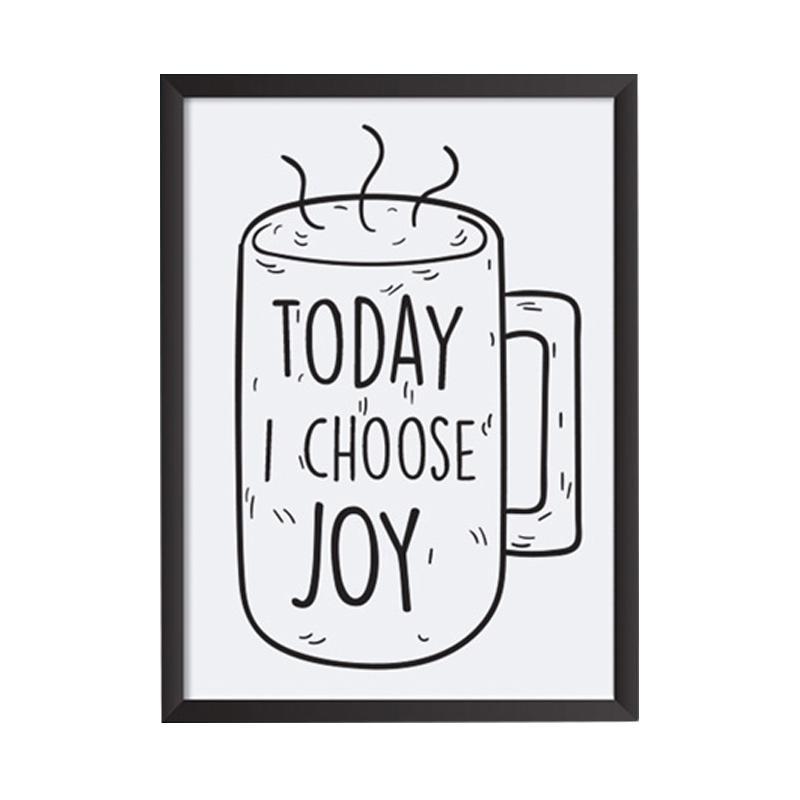 Cadrehome Today I Choose Joy A4 Dekorasi Dinding
