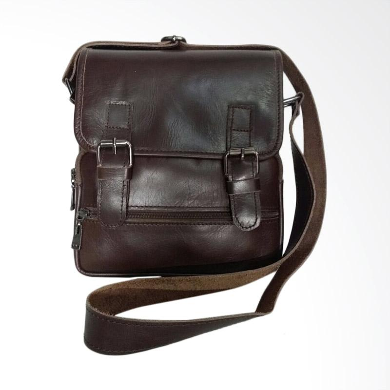 Hunter Design Tas Selempang Pria - Dark Brown [01215]