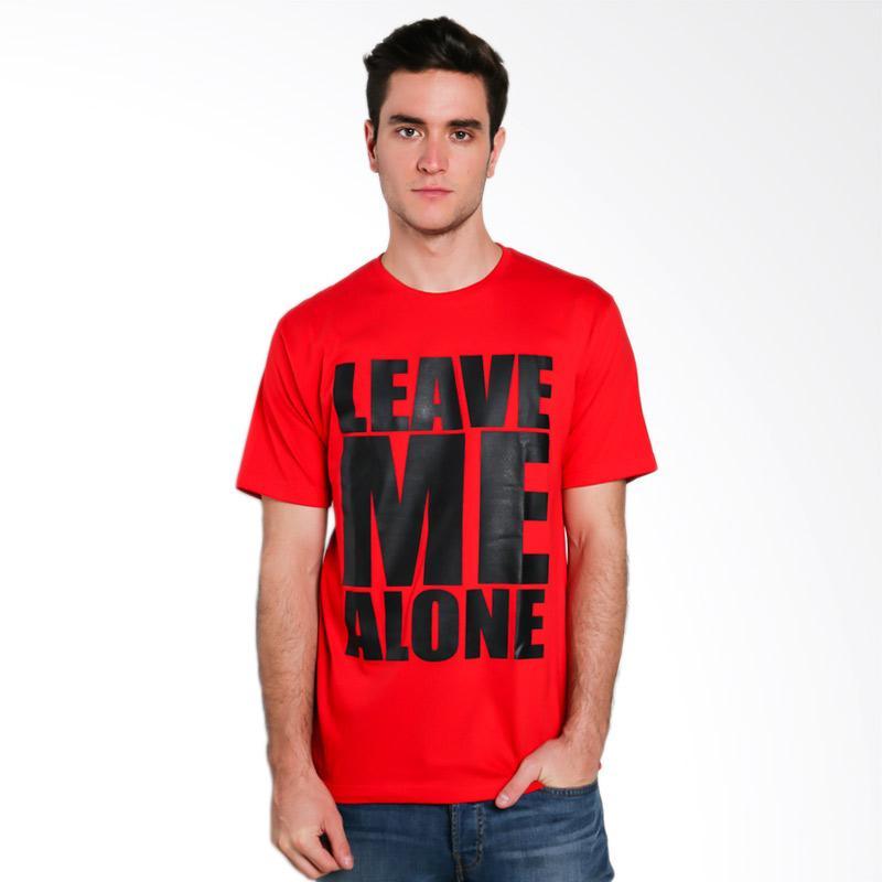 Hypestore TS Leave Me Alone Kaos Pria - Red [3186-2623]