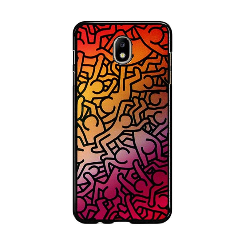 Flazzstore Keith Haring Colors Go Back Z1290 Custom Casing for Samsung Galaxy J5 Pro 2017