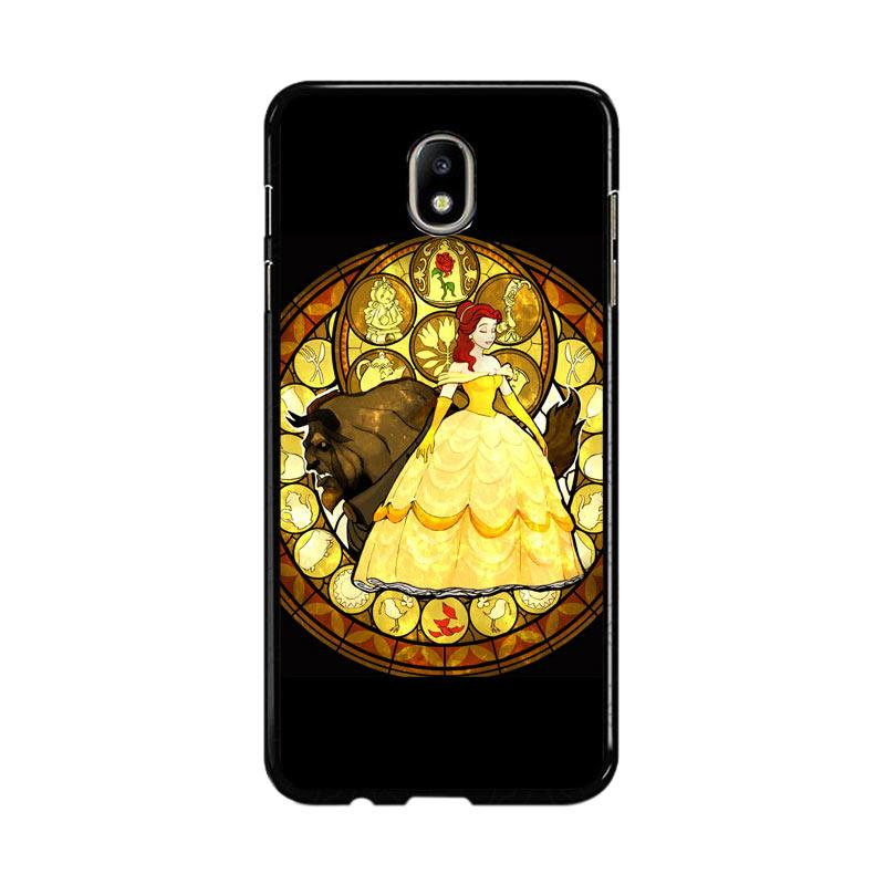 Flazzstore Beauty And The Beast Stained Glass Z1422 Custom Casing for Samsung Galaxy J5 Pro 2017