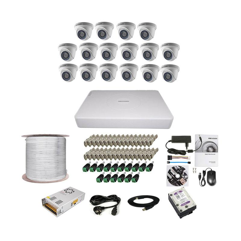 harga Hikvision THD 7116 16CH Indoor Paket Lengkap A CCTV [2 MP/2 TB/300 m] Blibli.com