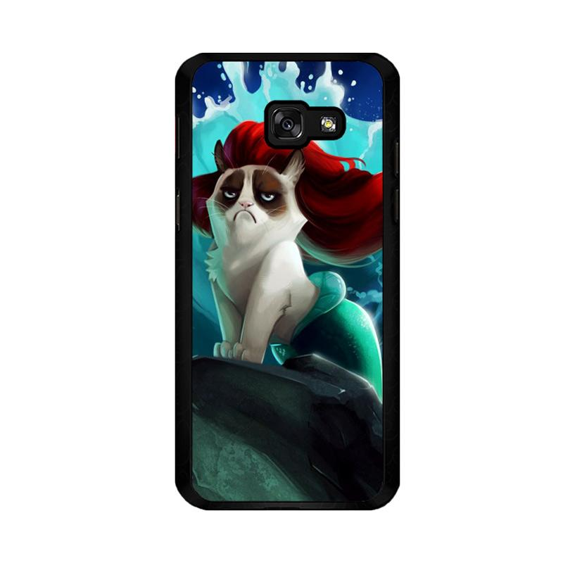 Flazzstore Grumpy Cat And Disney The Little Mermaid Z0023 Custom Casing for Samsung Galaxy A5 2017