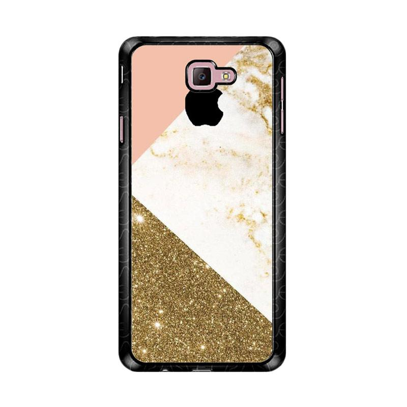 Flazzstore Pink And Gold Marble Apple Logo Z4824 Custom Casing for Samsung Galaxy J7 Prime