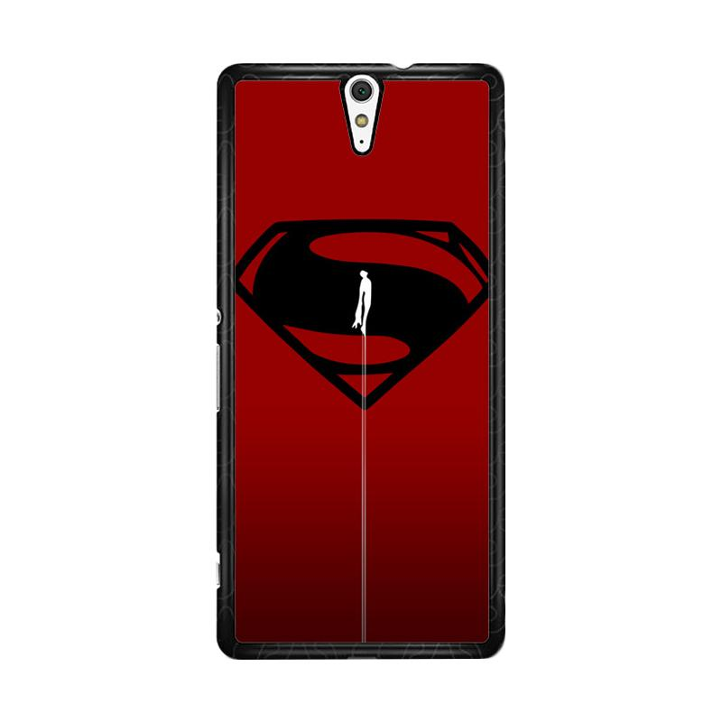 Flazzstore Superman Fly O0023 Custom Casing for Sony Xperia C5 Ultra