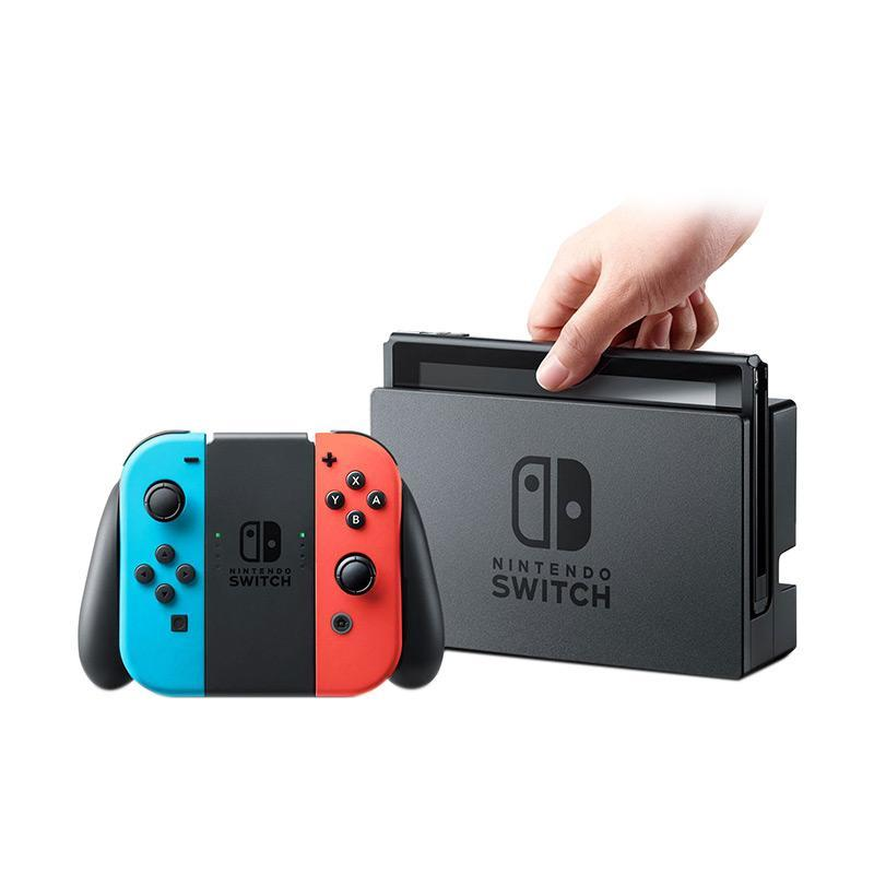 Nintendo Switch Game Console Neon Blue Red