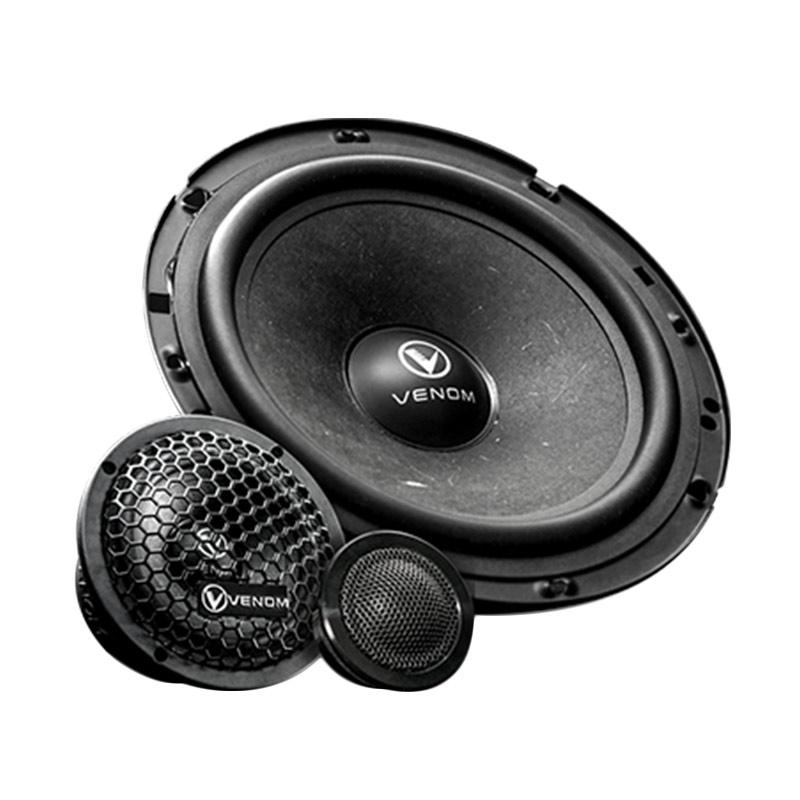 Venom Series VX6 3B 3 Way Component Speaker Mobil Black