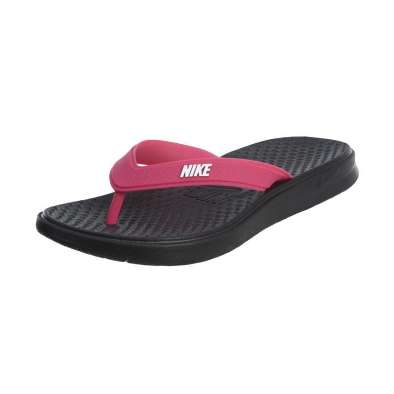 0c4ec8371485 NIKE Solay Thong Sandal Olahraga Wanita - Black Pink  882699001
