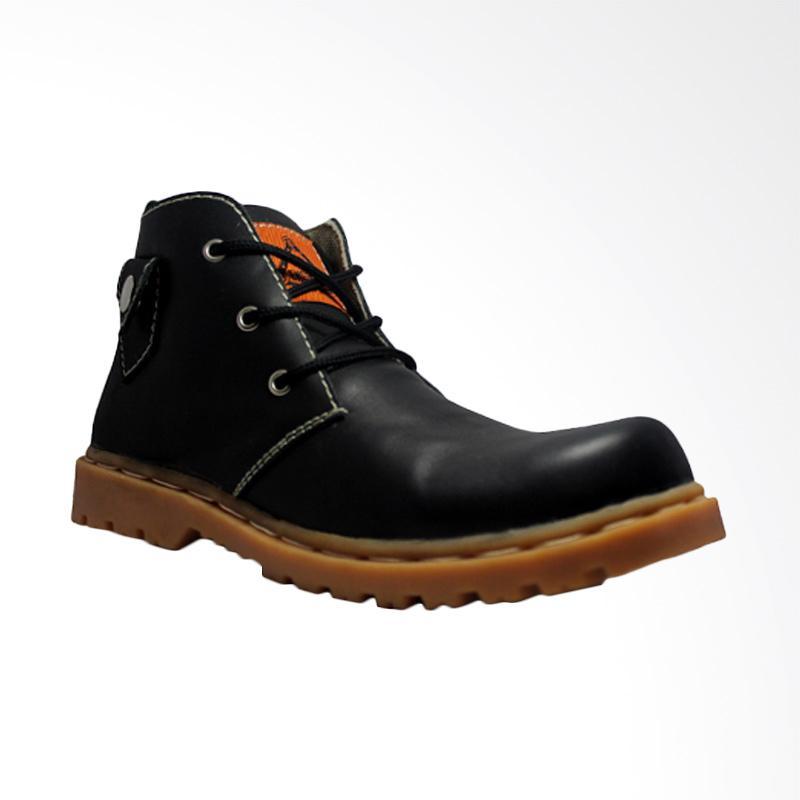 harga Cut Engineer Safety Lacoste Genuine Leather Sepatu Boot Pria - Black Blibli.com