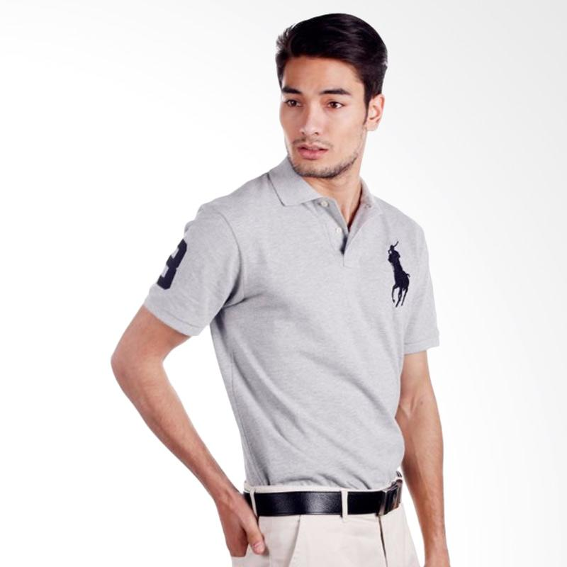 f13568814e2 Jual POLO RALPH LAUREN Custom Fit S-S Men Polo Shirt - Light Grey -  X04ABZE0593 Online - Harga   Kualitas Terjamin