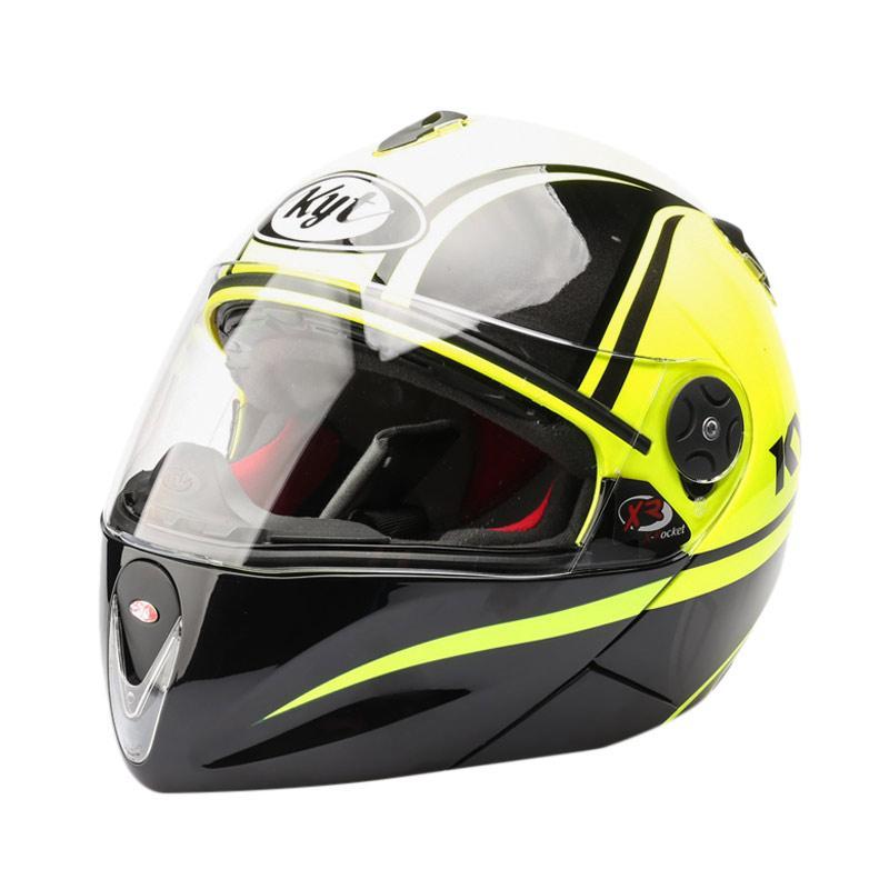 harga KYT X-Rocket Retro #2 GM Helm Full Face - Yellow Fluo Black Blibli.com