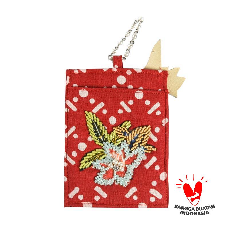 harga Origo Chain With Batik ID Card Holder - Merah Blibli.com