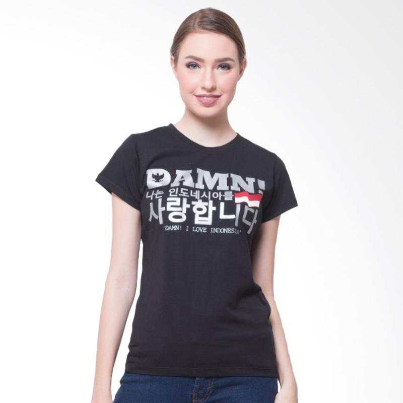 harga Damn I Love Indonesia Signature Female Korea Atasan Wanita - Black HD Silver Blibli.com