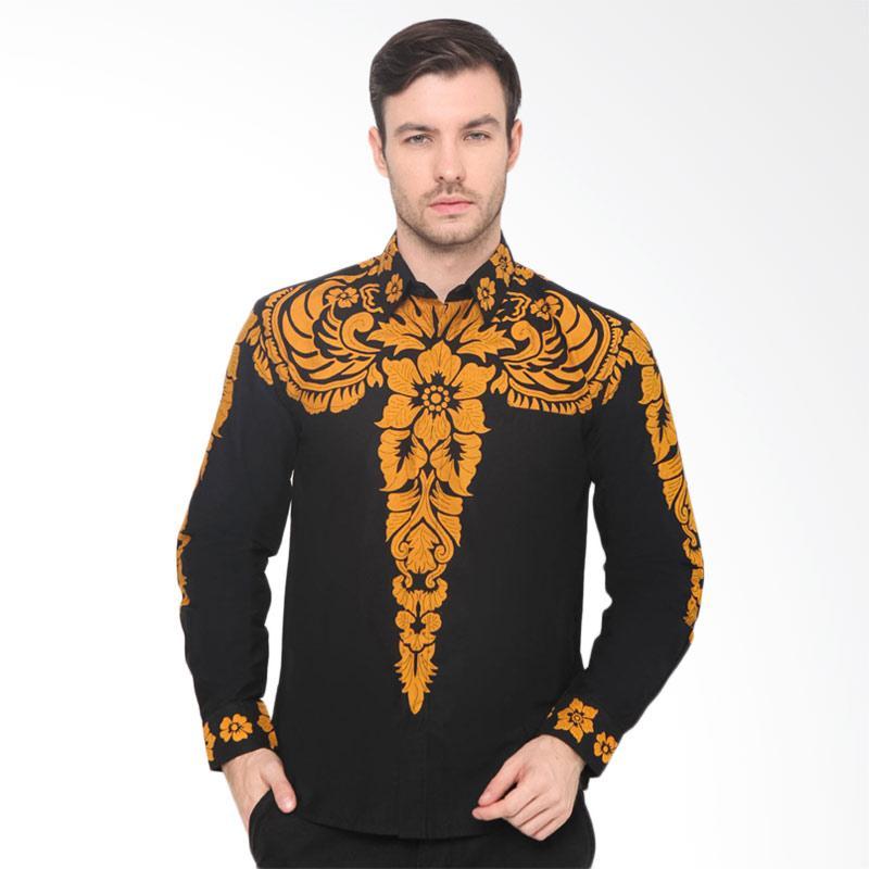 harga Enzy Batik Shirt Benteng Raja Kemeja Batik Pria - Black Blibli.com