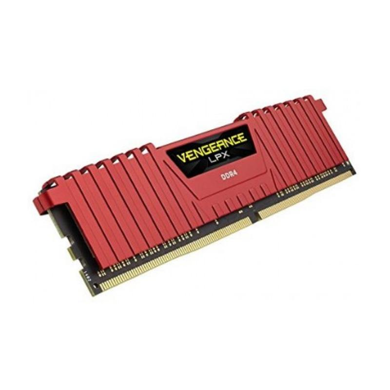 harga Corsair Vengeance LPX Memory Kit - Red [4GB/ 1 x 4GB/ DDR4/ 2400 MHz/ C14] Blibli.com