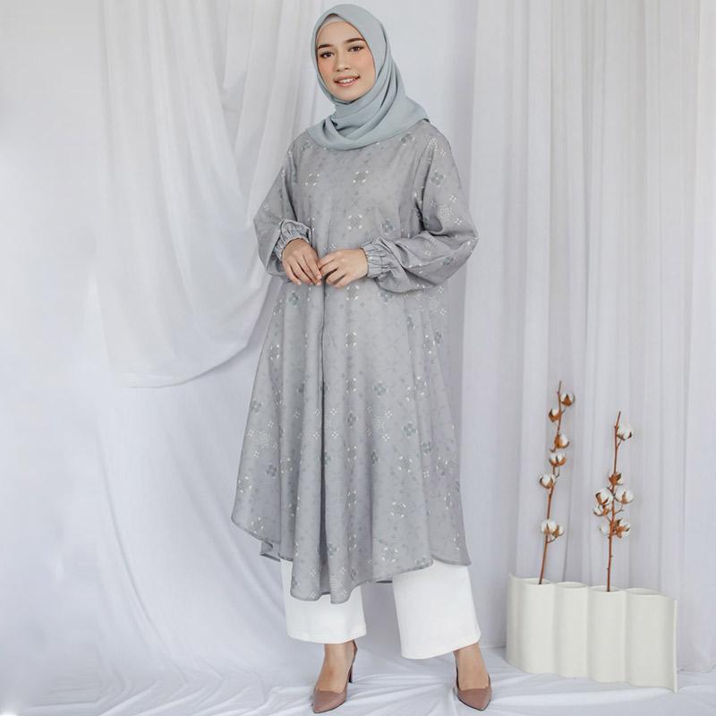 Purukambera Naura Dress Muslim Wanita Pale Green
