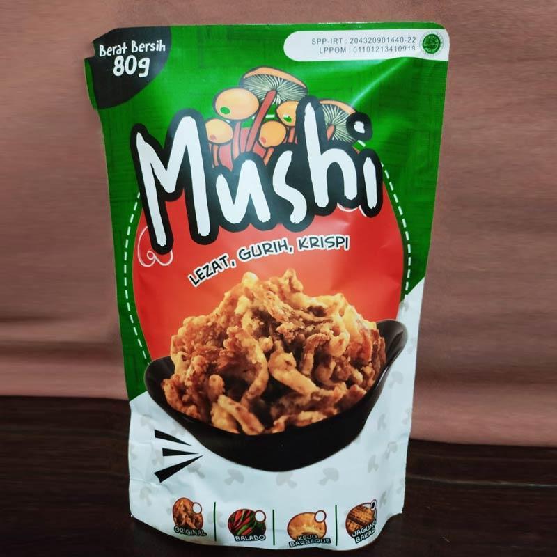Mushi Rasa Keju Barbeque Jamur Crispy 80 g