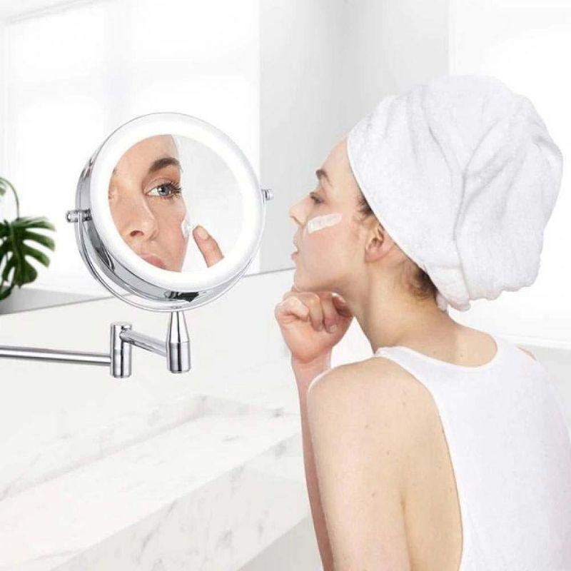 Jual H Ikea Bath Mirror Led Cosmetic Mirror 1x 3x Magnification Wall Mounted Adjustable Makeup Mirror Dual Arm Extend 2 Face Online Januari 2021 Blibli