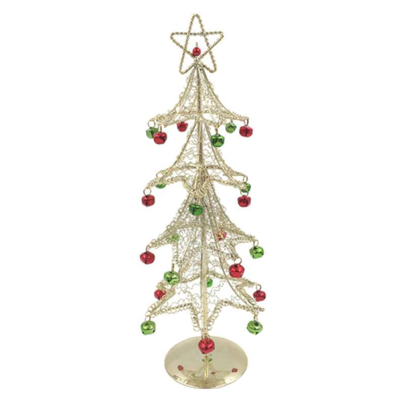 Metal Wire Miniature Christmas Tree with Bell Ornaments Christmas Decoration