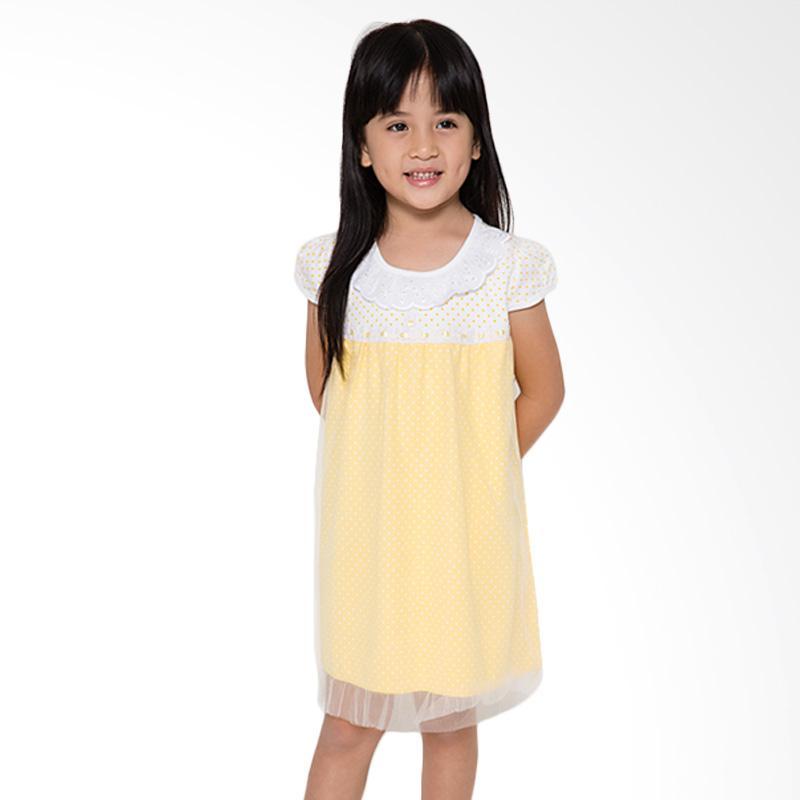 4 You Onde Tile Dress Anak - Kuning