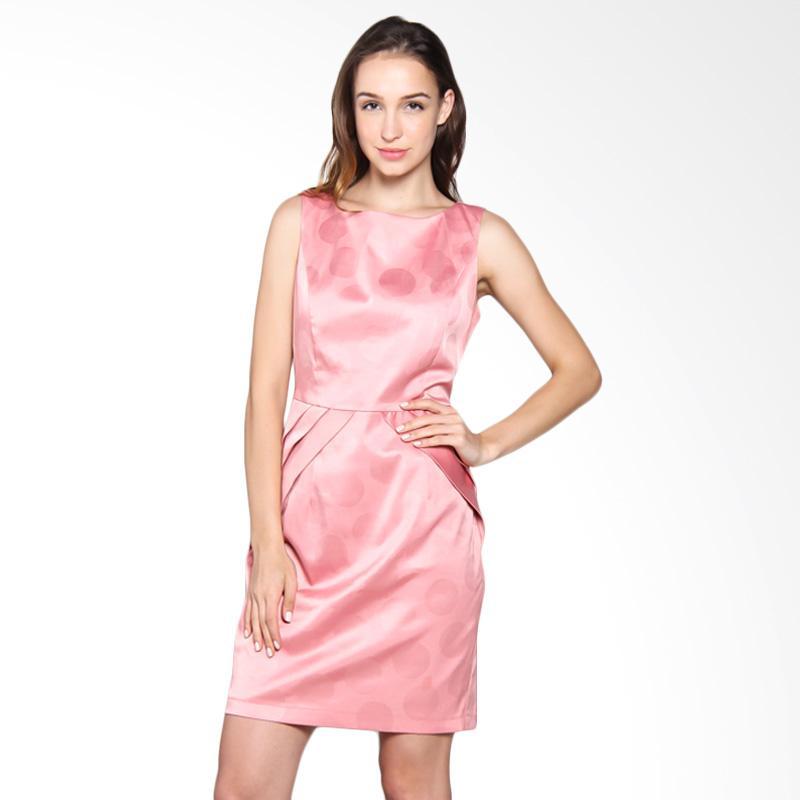 Carte Polkadot Accent Dress - Pink