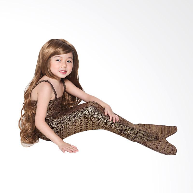 harga Mermaid Tail Swimsuit - Brown 2-3 tahun Baju Putri Duyung Anak Blibli.com