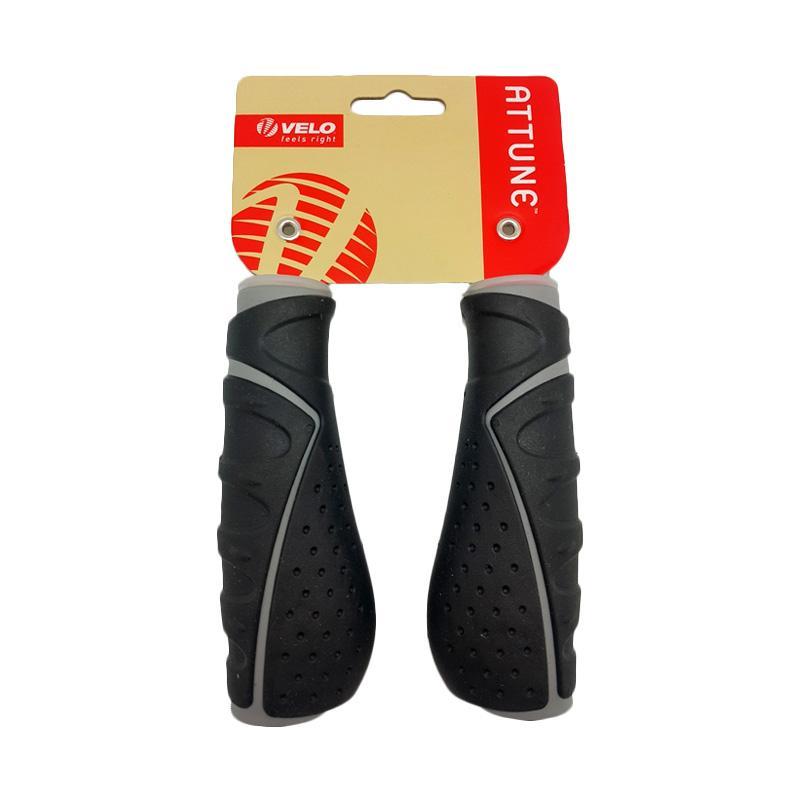 Velo 709 Handle Grip Sepeda - Black Grey