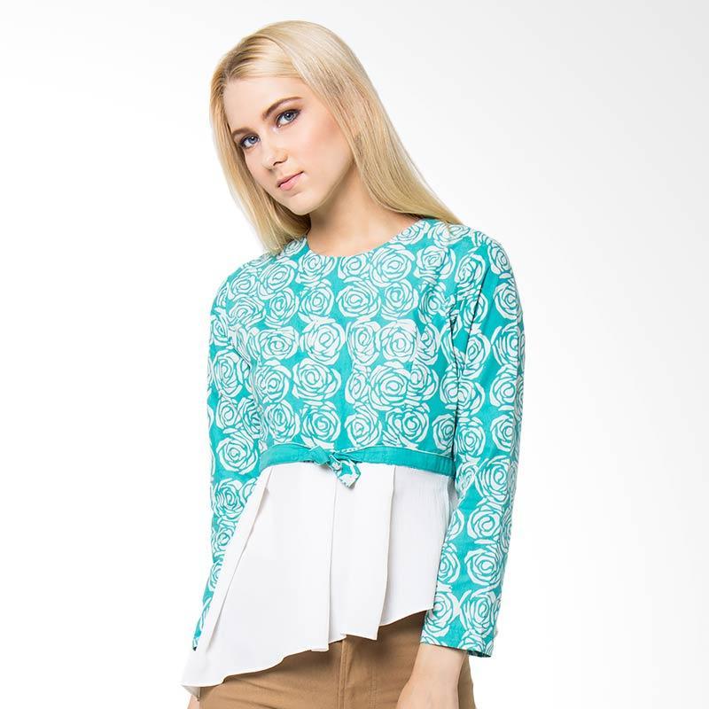Batik Etniq Craft Natasha Blouse - Tosca