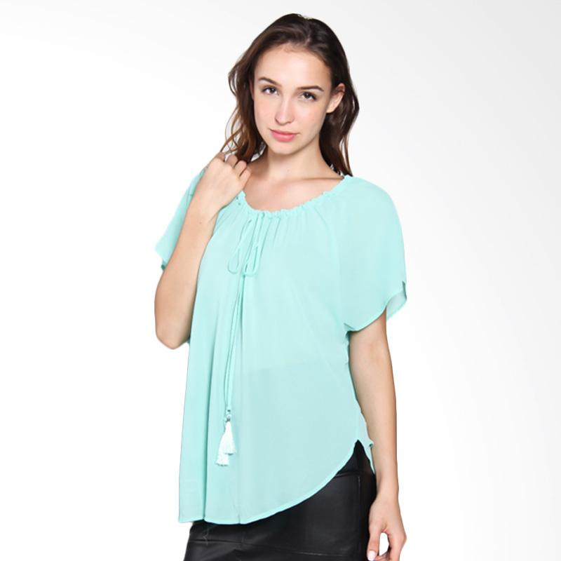 Carte Girly Top Blouse - Baby Blue