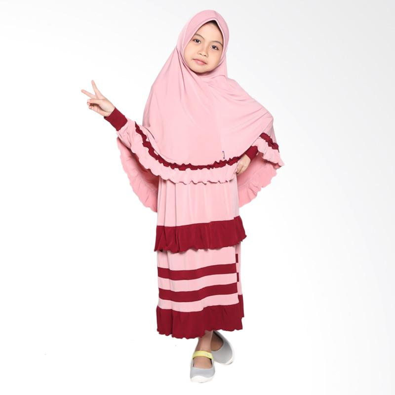 Allev Halima Baju Muslim Anak - Pink