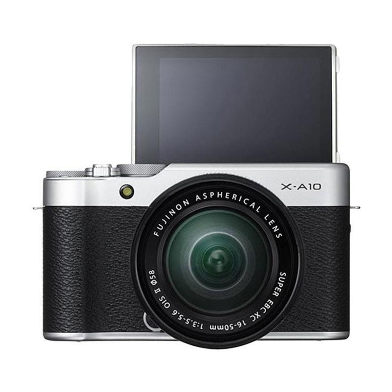 Fujifilm X-A10 Kit 16-50 f/3.5-5.6 OIS II Kamera Mirrorless - Silver
