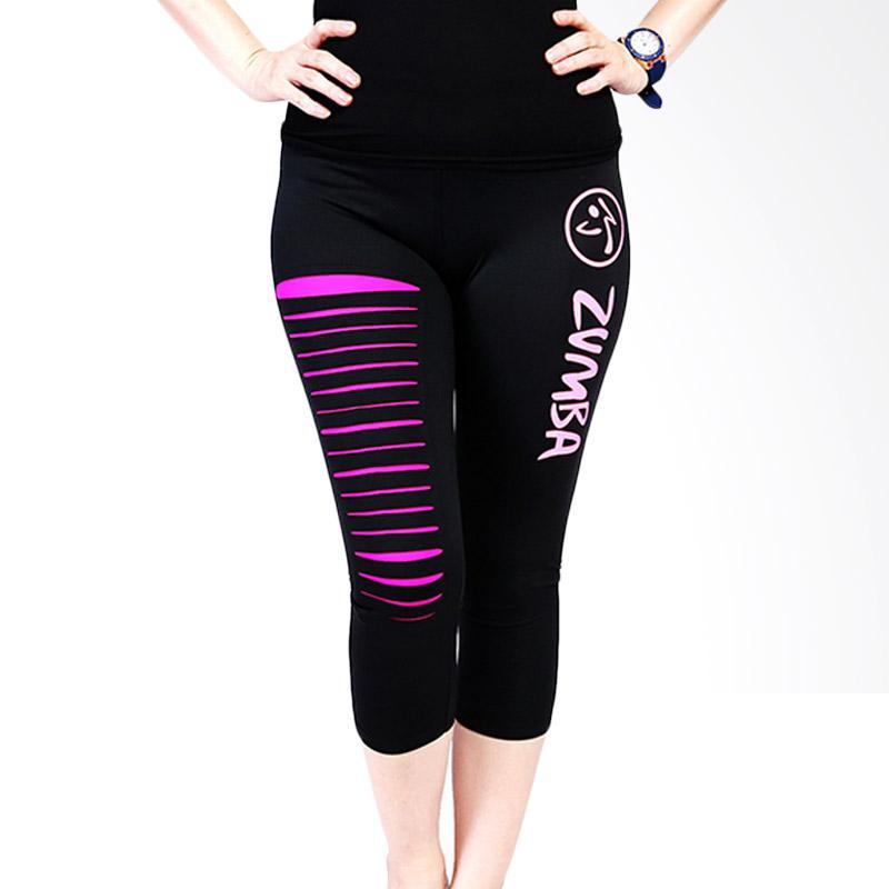 Ronaco T001 Zumba Pants Celana Olahraga Wanita - Black Pink