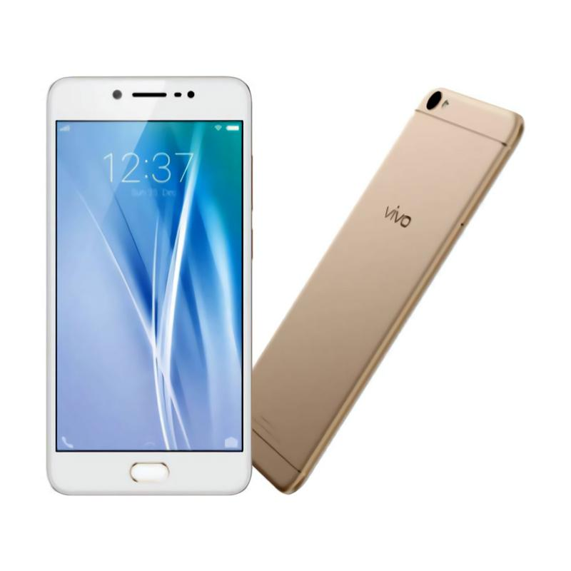 VIVO V5 Smartphone - Gold [32GB/ 4GB] Free Catok Rambut Mini+I-Ring