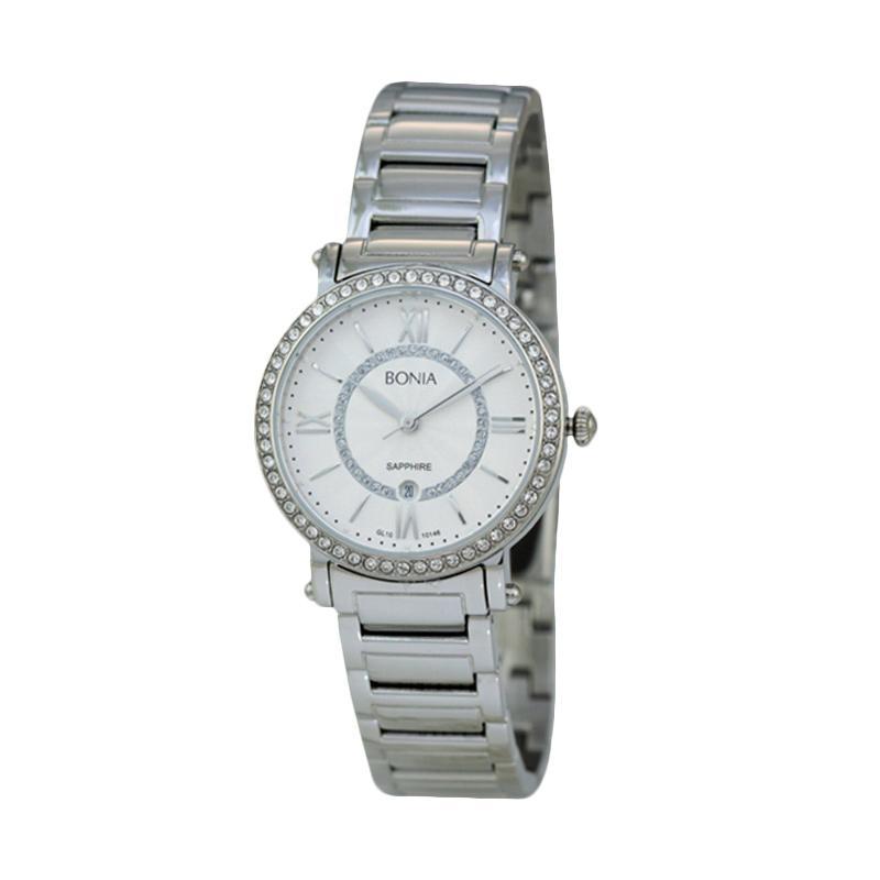 Bonia - Jam Tangan Wanita - B10146-2313S - Silver White Dial