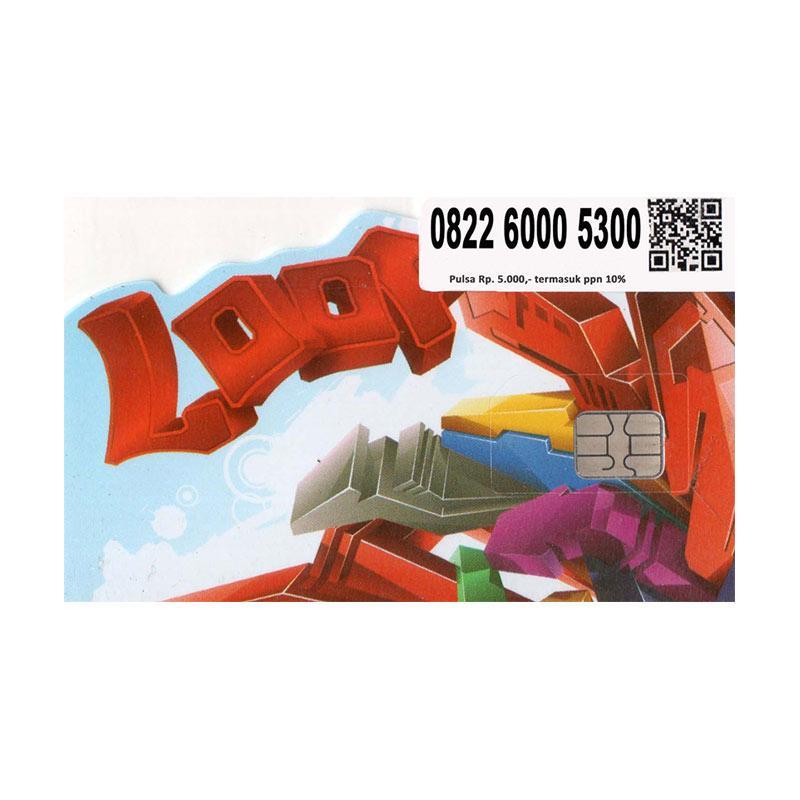 Simpati LOOP Nomor Cantik 0822 6000 5300 Kartu Perdana