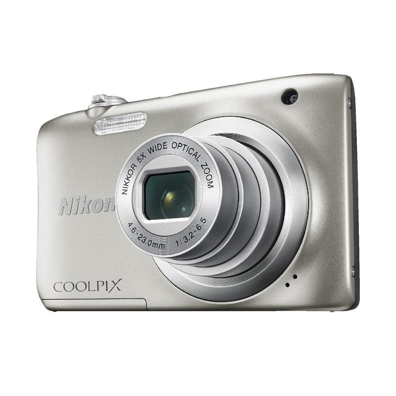Nikon Coolpix A100 Kamera Pocket - Silver + FREE SANDISK SD ULTRA 16 GB + SCREEN GUARD