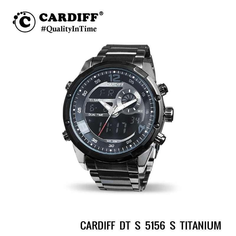CARDIFF Dual Time 5156 S Jam Tangan Kasual Pria