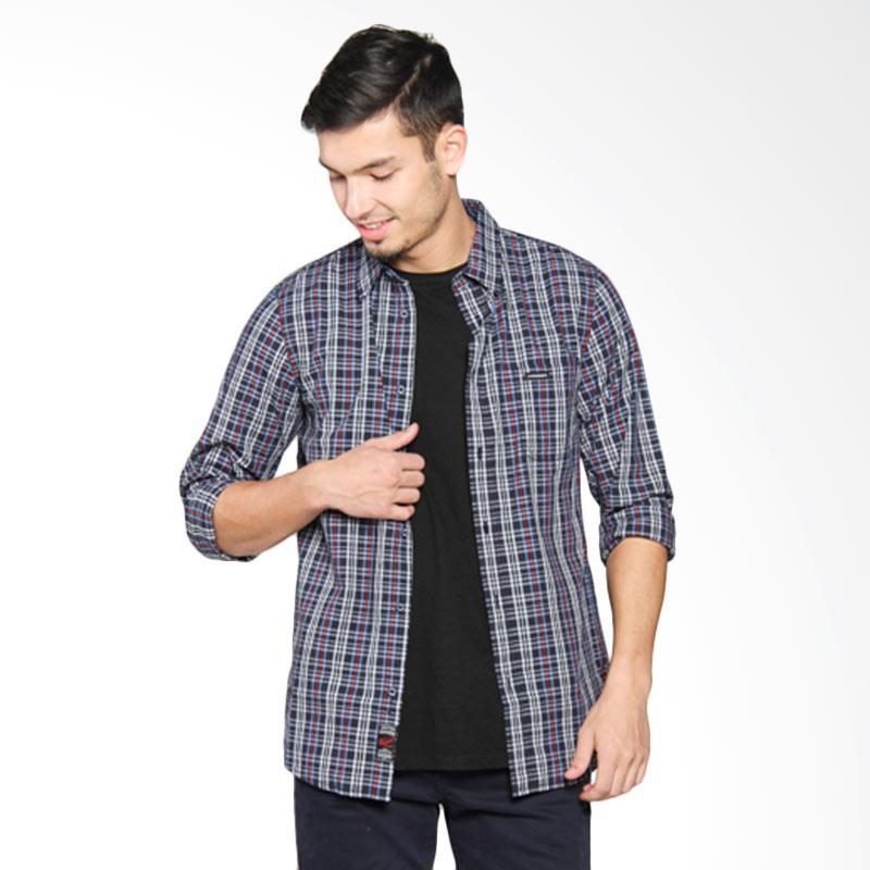 3SECOND Men Shirt Kemeja Pria - Blue 114051711