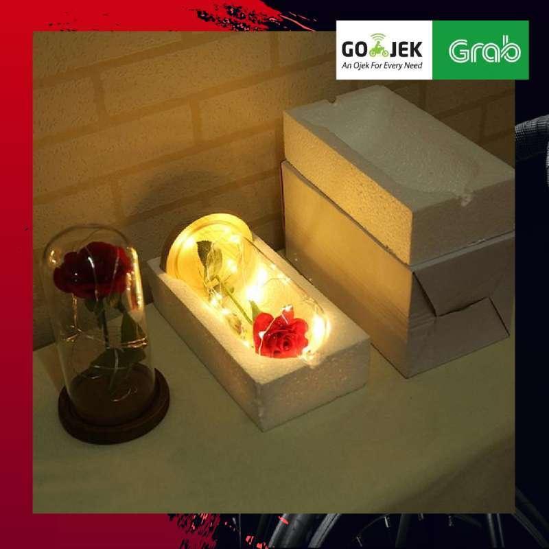 TERLARIS KADO VALENTINE LAMPU LED BUNGA MAWAR ACEVIVI Beauty and The Beast Rose