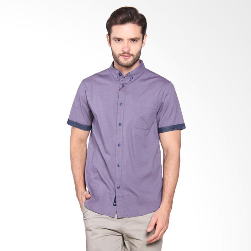 Famo Plain Short Shirt - Blue [510051711]