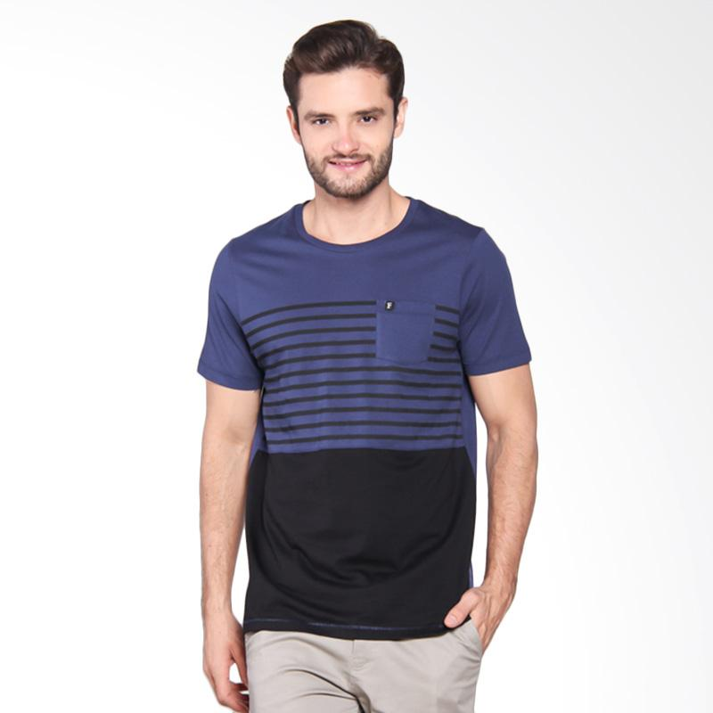 Famo printed Basic T-shirt - Blue [511051712]