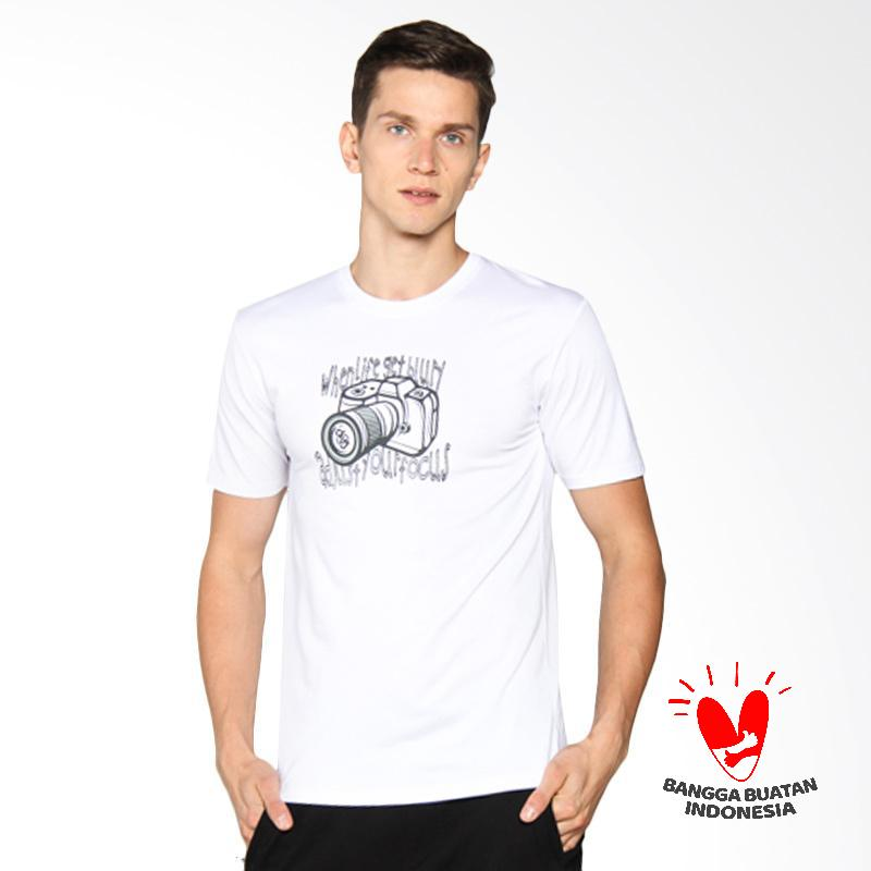 D&J Katun Top Kaos Pria - Putih 013