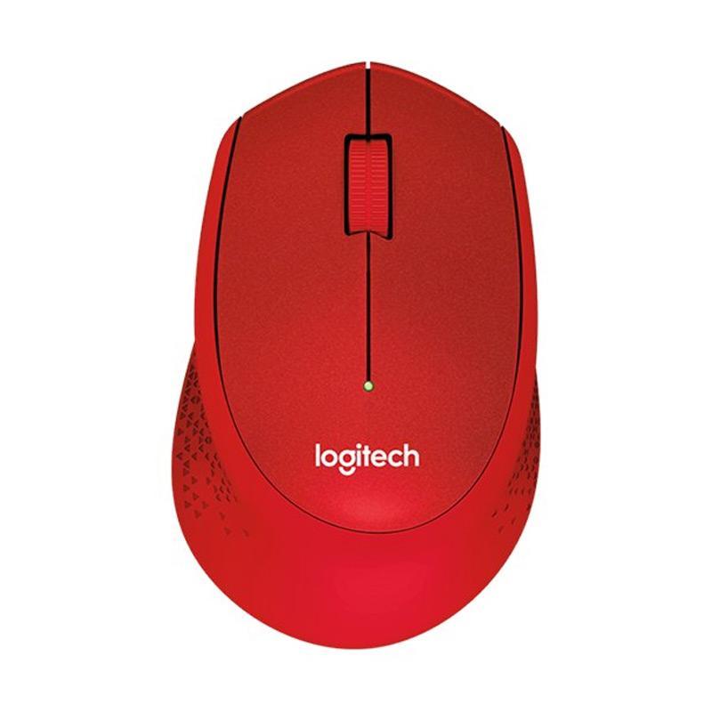 Logitech M331 Silent Plus Wireless Mouse - Merah