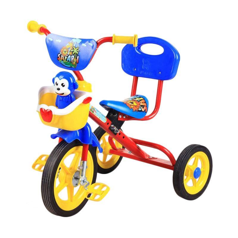 harga PMB Tricycle Sandaran Sepeda Anak Roda Tiga - Merah Blibli.com