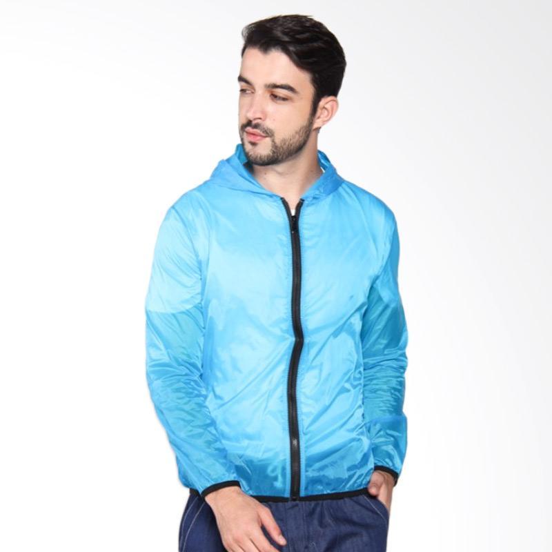 ZcoLand Jaket Warna Transparan - Electrik Blue